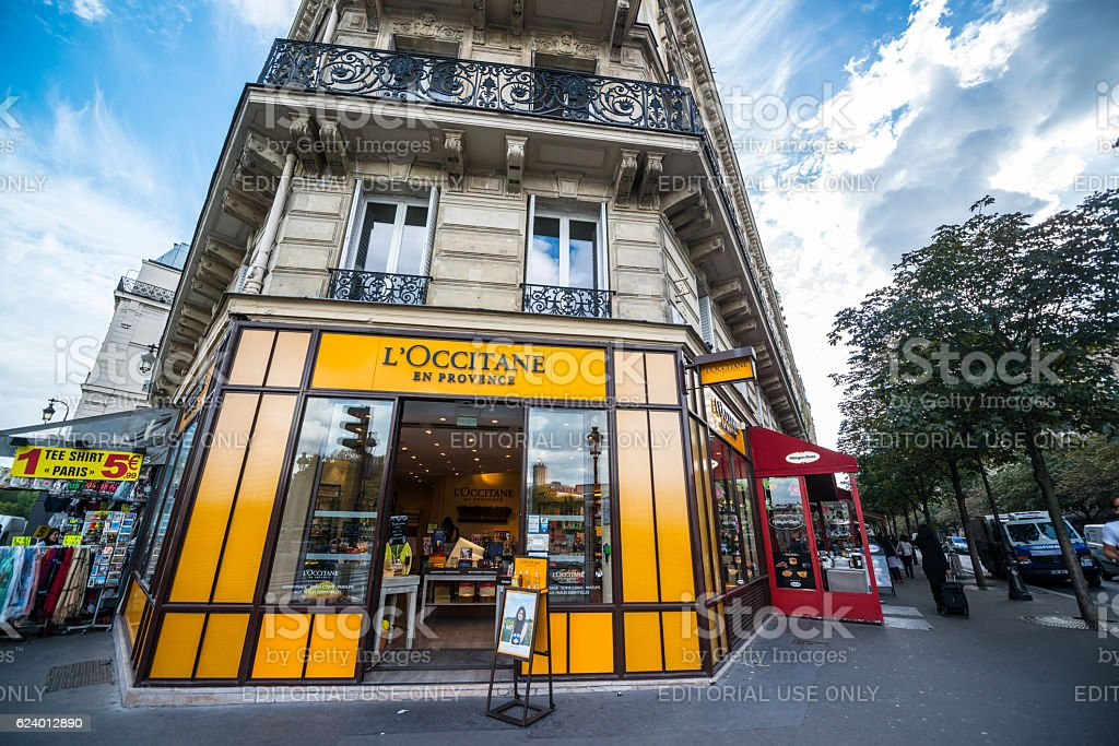 L'Occitane en Provence store, Paris stock photo