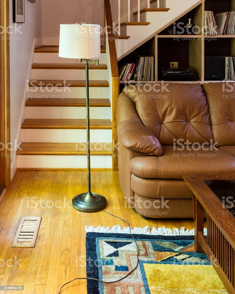 Occupational Therapy household hazards: wire and rug stock photo
