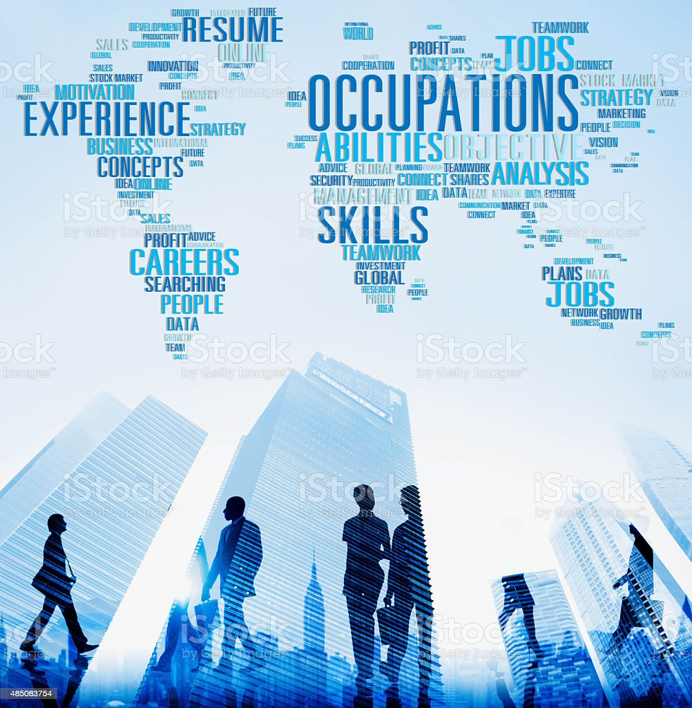 Occupations Careers Community Experience Global Concept stock photo