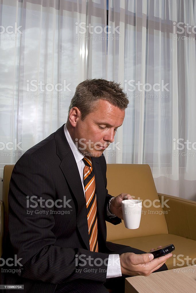 occupied businessman royalty-free stock photo