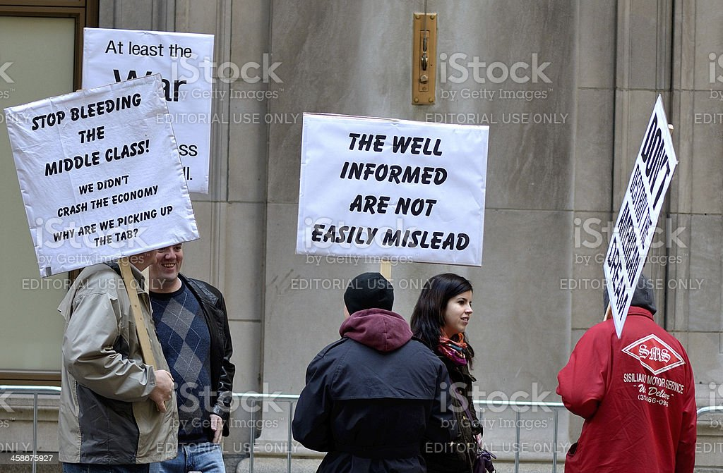Occupy  Chicago Protest royalty-free stock photo