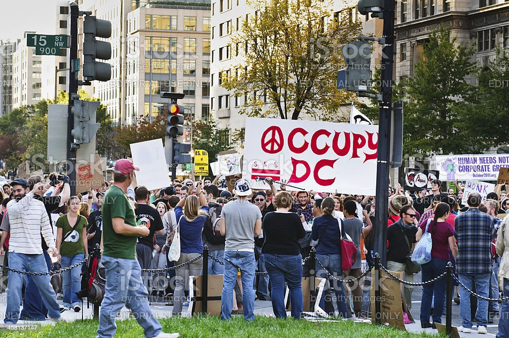 Occupy DC Protest March stock photo