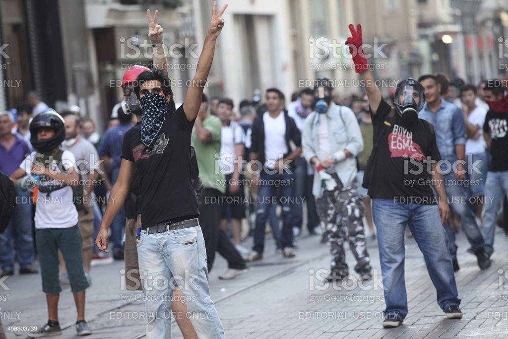 Occupy Gezi Park Protest stock photo