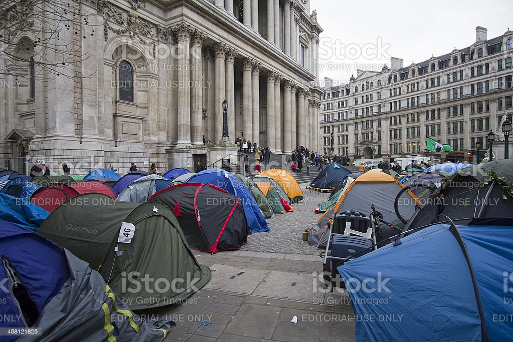 Occupy London stock photo