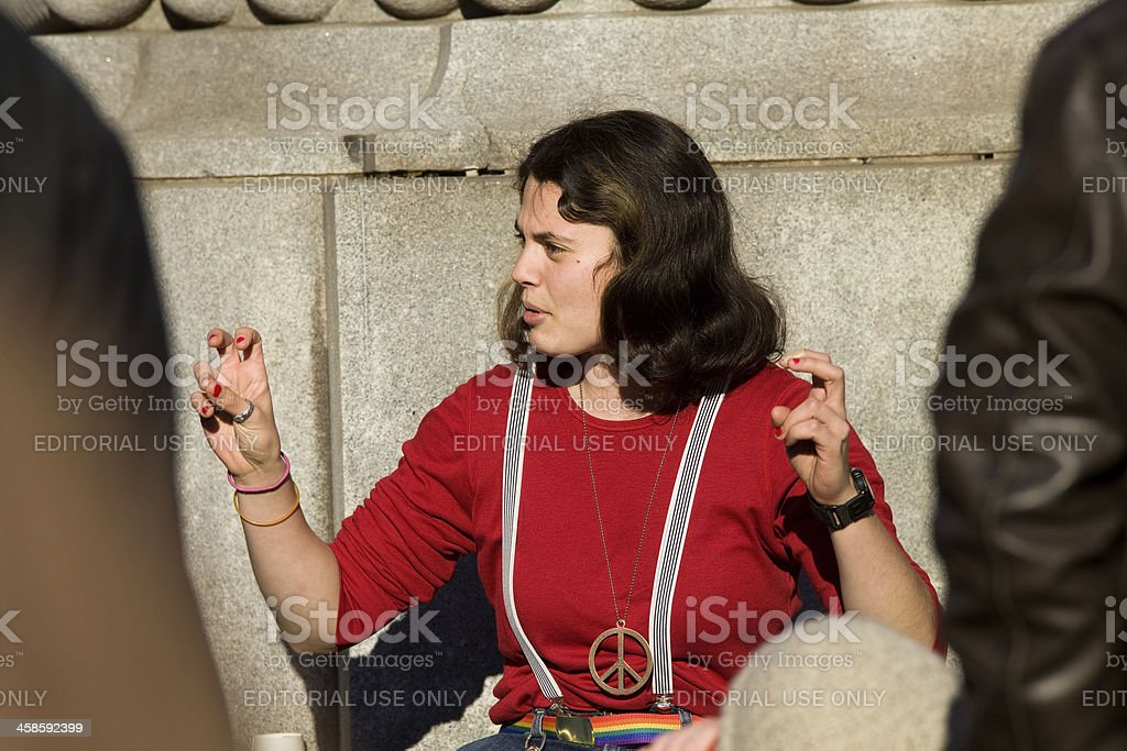 Occupy Movement - Discuss and Educate royalty-free stock photo