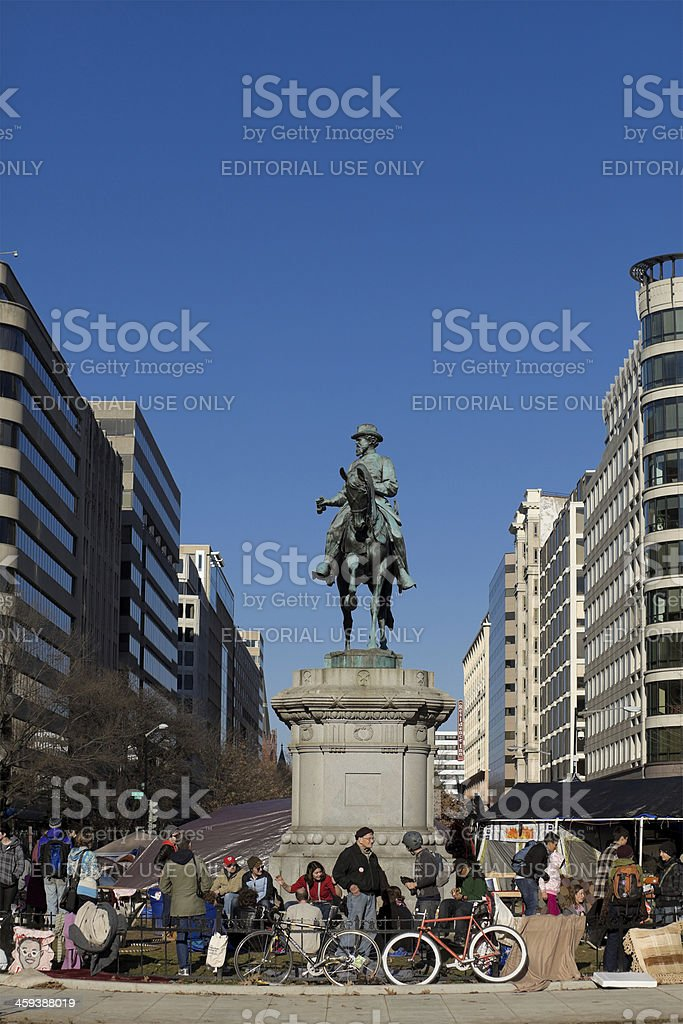 Occupy Movement - McPherson Square, DC royalty-free stock photo
