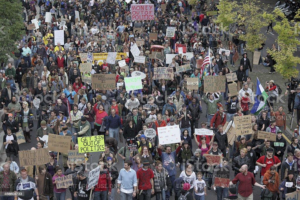 Occupy Portland March. stock photo