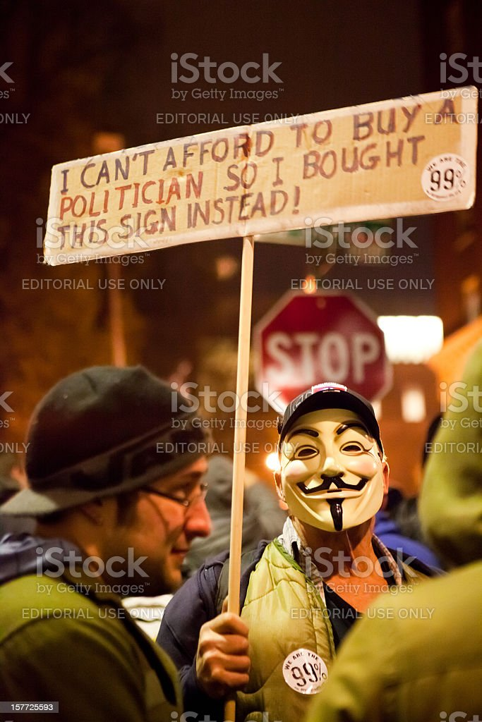 Occupy Portland stock photo
