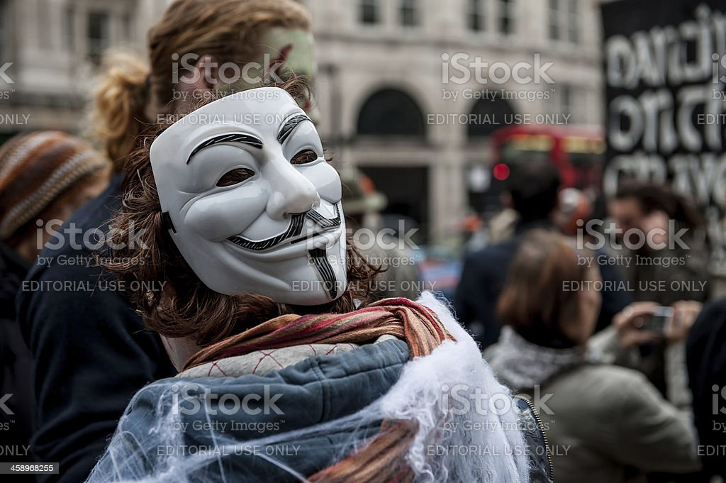 Occupy Protest Mask stock photo