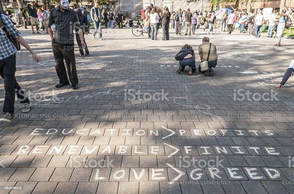 Occupy Protest stock photo