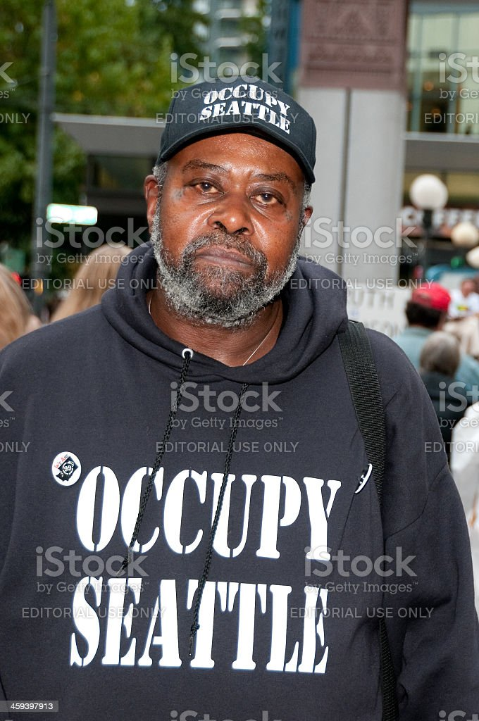 Occupy Seattle Protestor royalty-free stock photo
