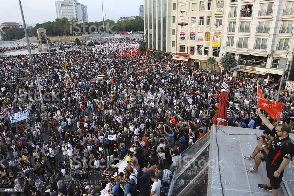 Occupy Taksim royalty-free stock photo