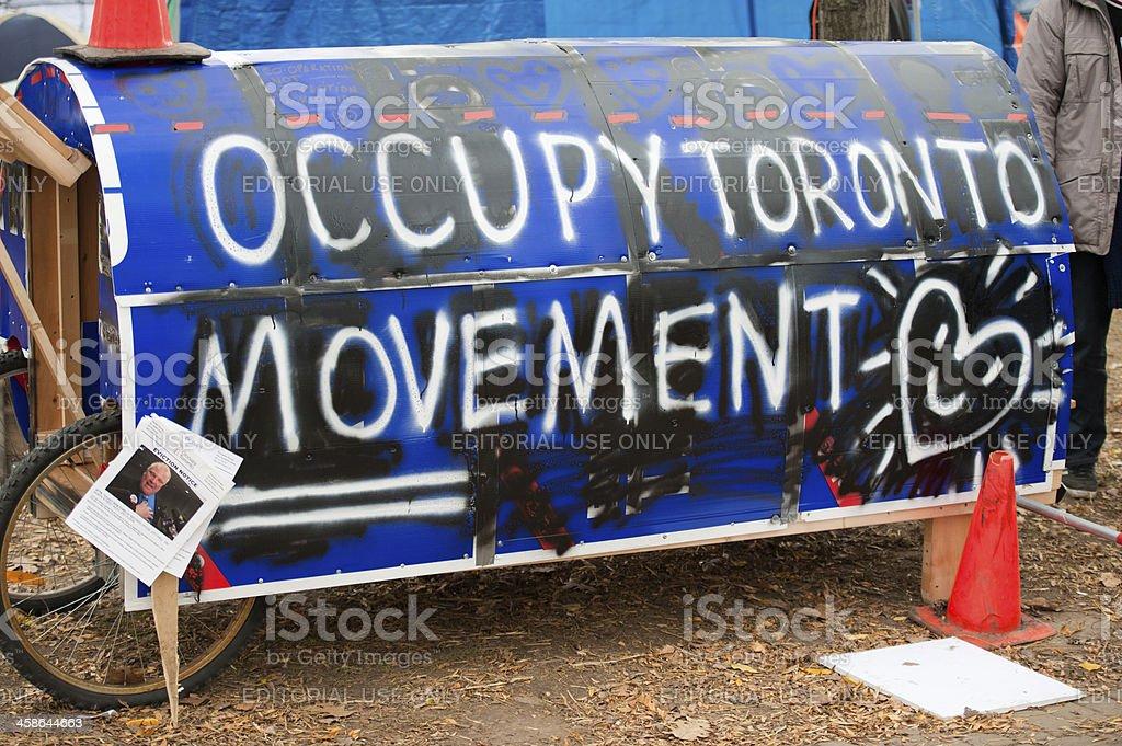 Occupy Toronto Movement royalty-free stock photo