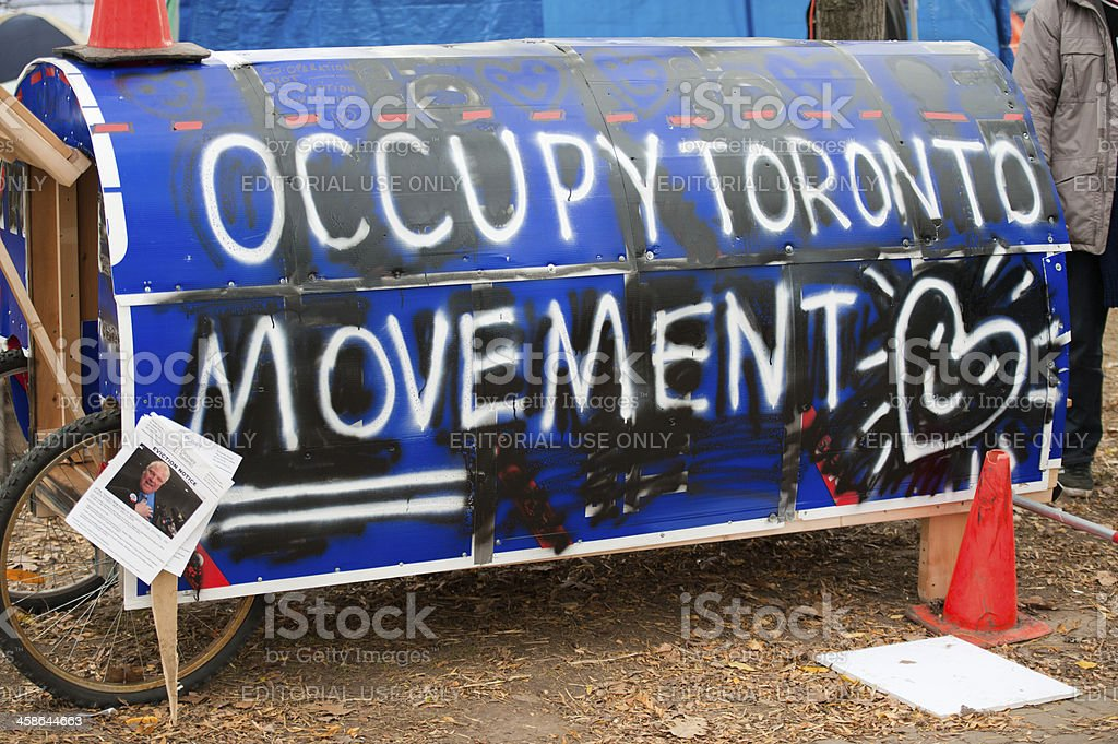 Occupy Toronto Movement stock photo