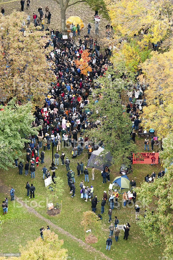 Occupy Toronto royalty-free stock photo