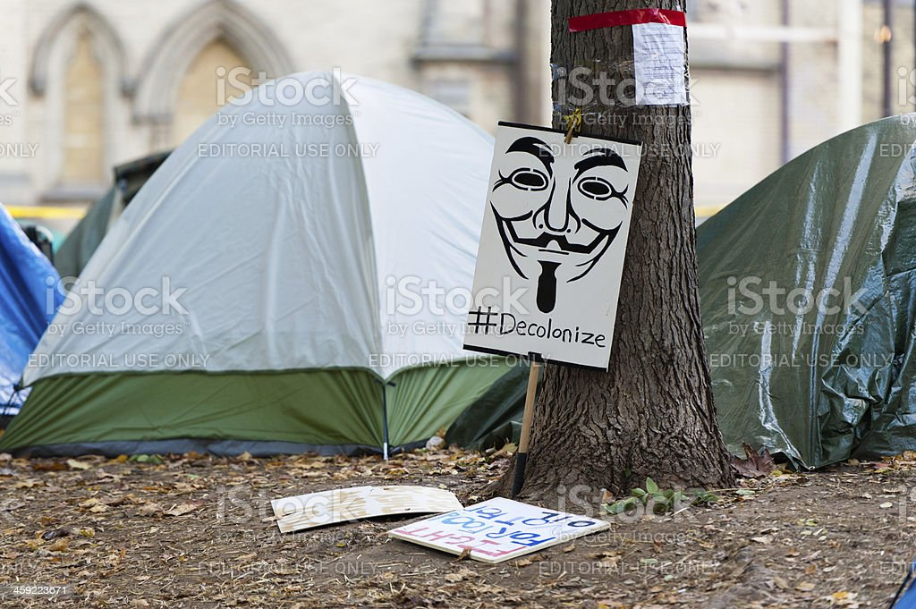 Occupy Toronto stock photo