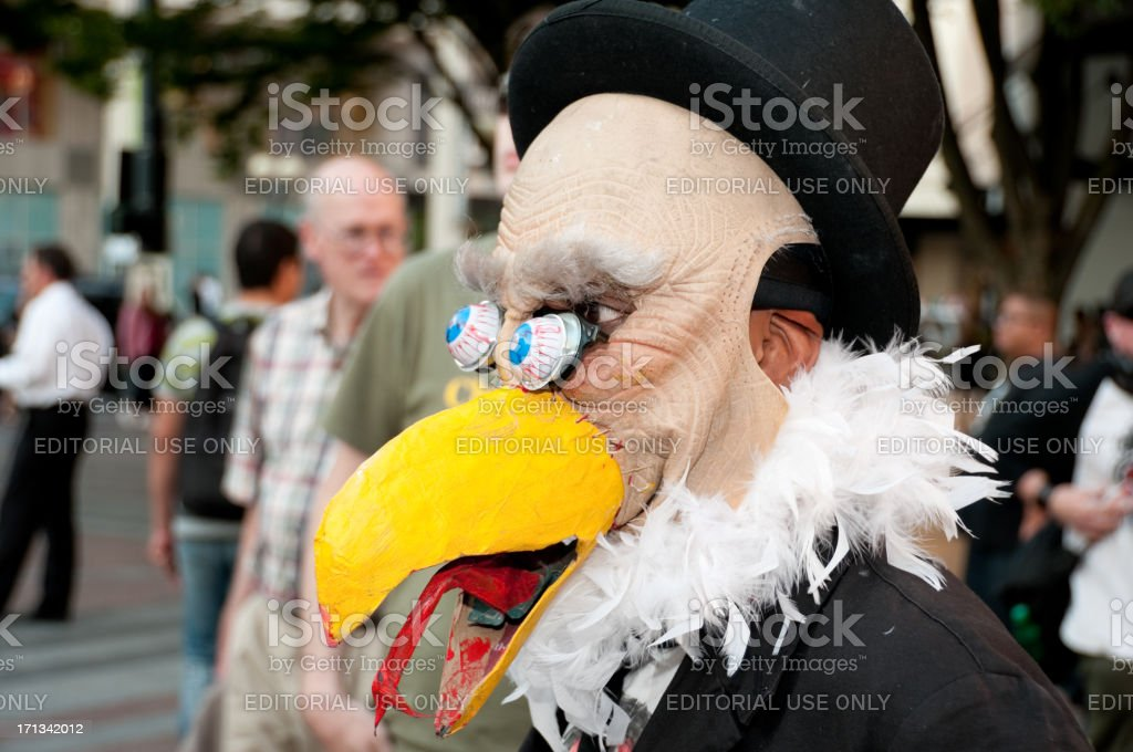 Occupy Wall Street Movement royalty-free stock photo