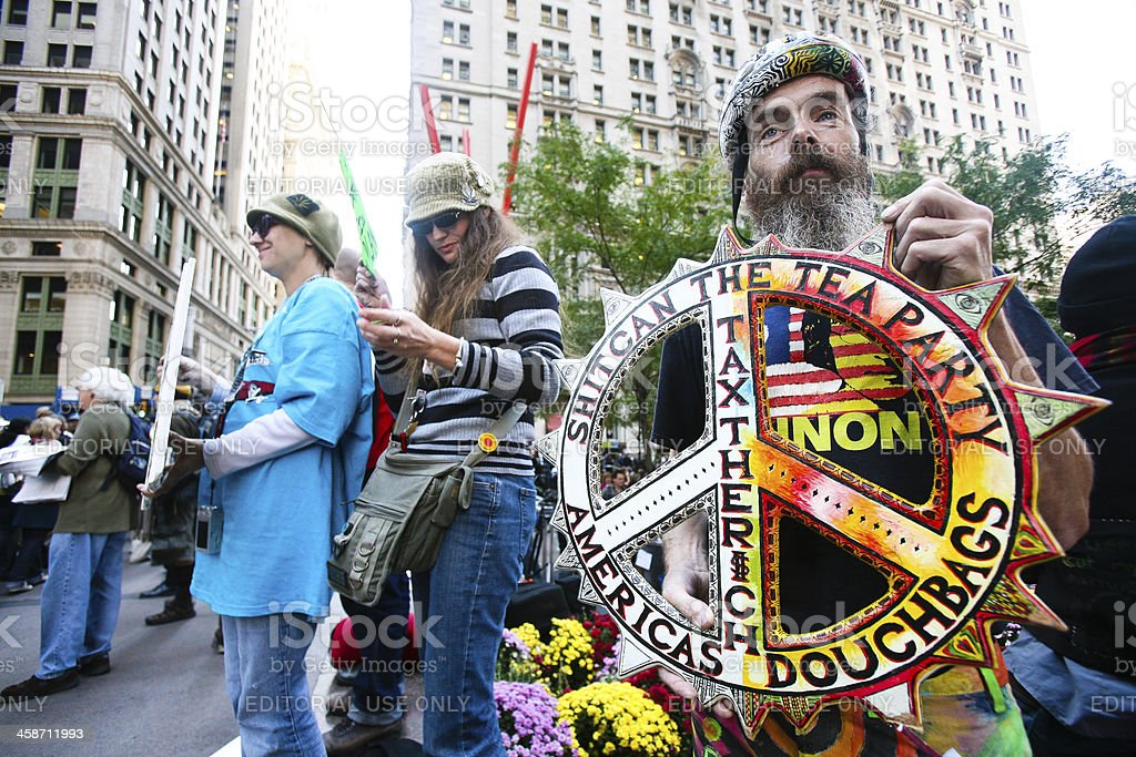 Occupy Wall Street stock photo