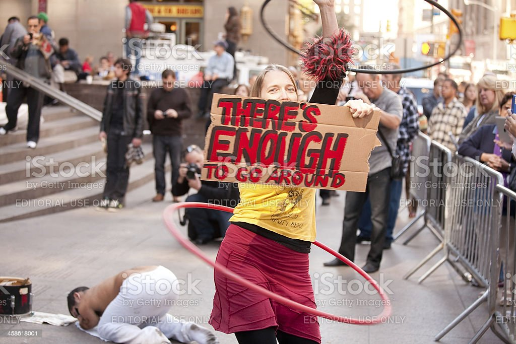 Occupy Wall Street Protest royalty-free stock photo