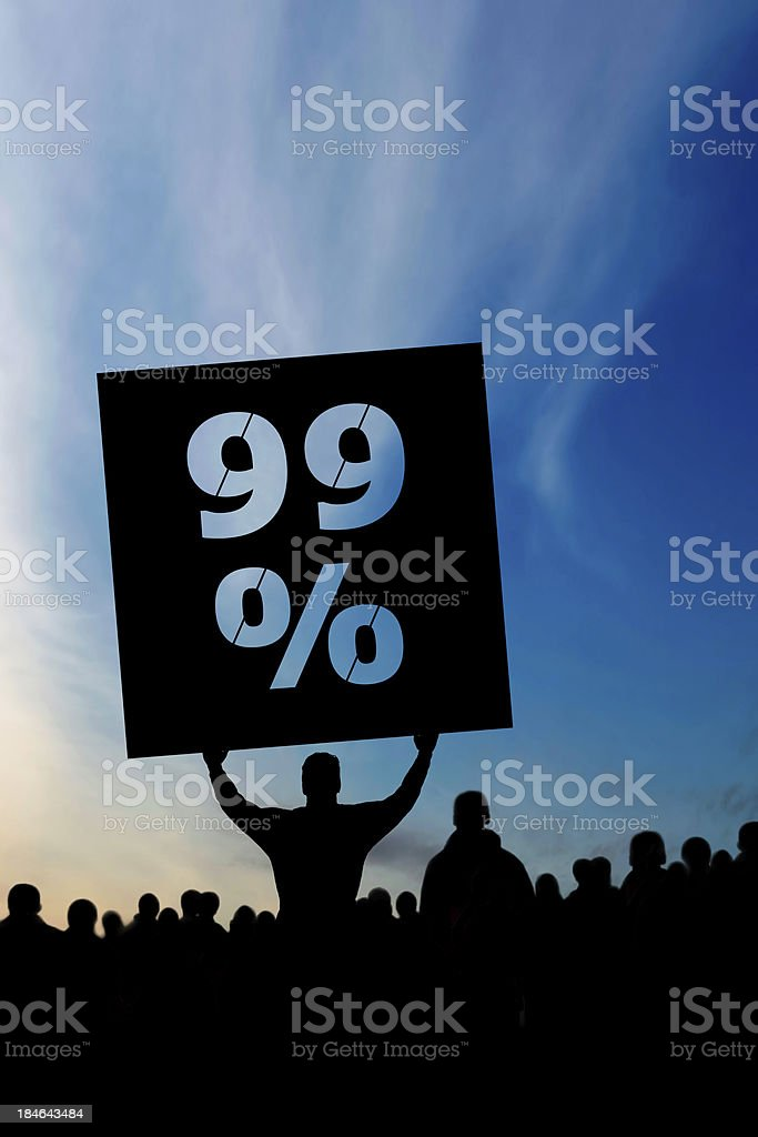 XXXL occupy wall street protestors royalty-free stock photo