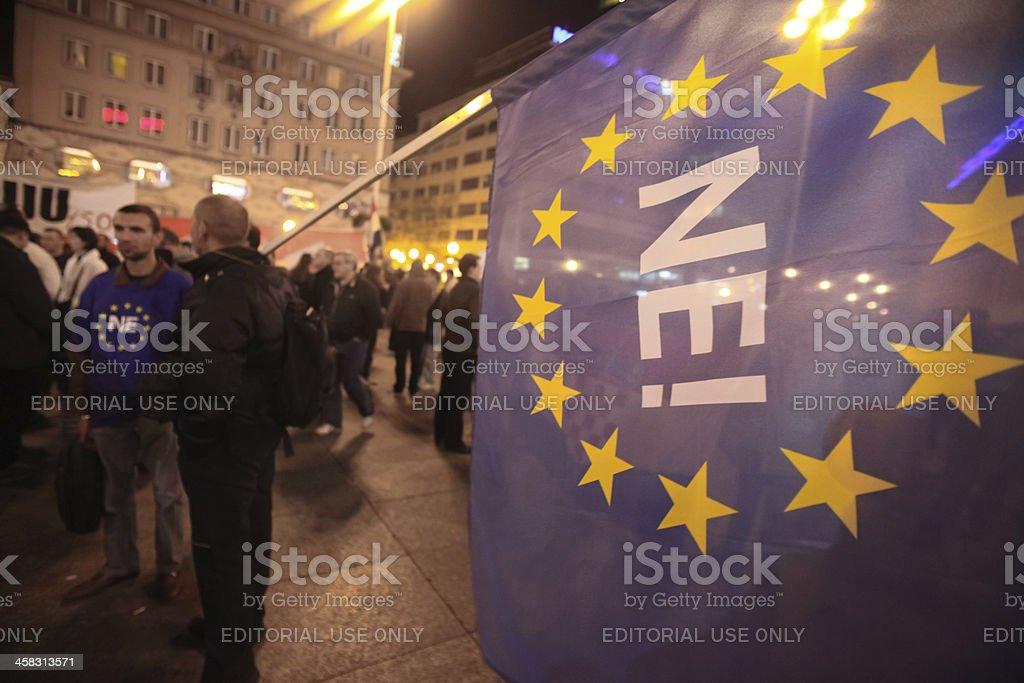 15.0 Occupy Zagreb royalty-free stock photo