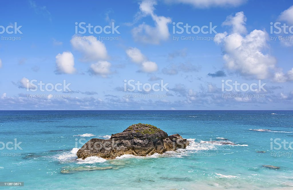 Ocean and Rock stock photo