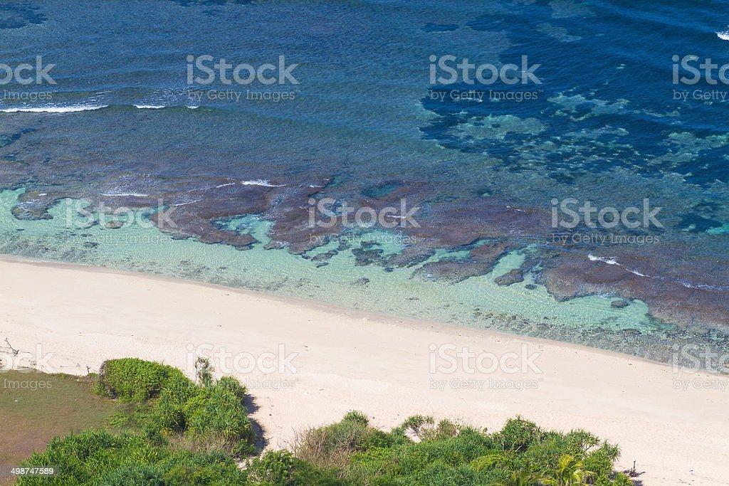 Ocean and sandy beach royalty-free stock photo