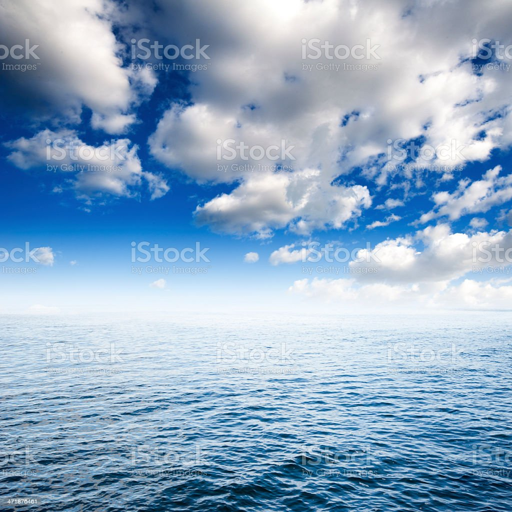 Ocean and Sky royalty-free stock photo