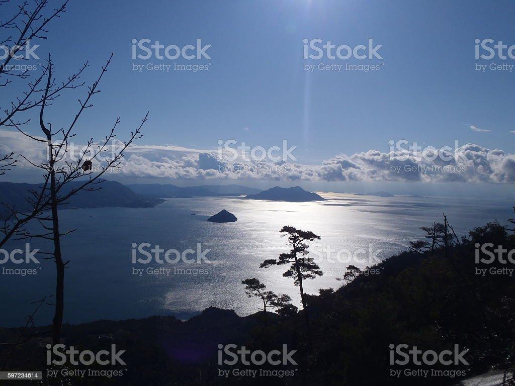 Ocean and Sun stock photo