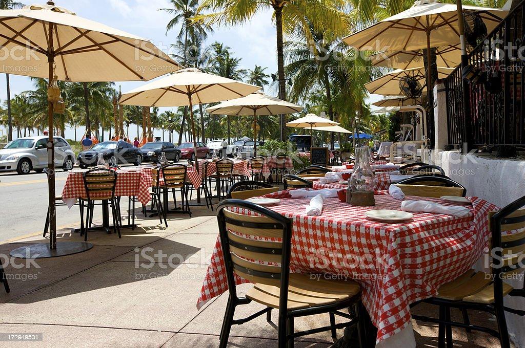 Ocean Ave Miami stock photo