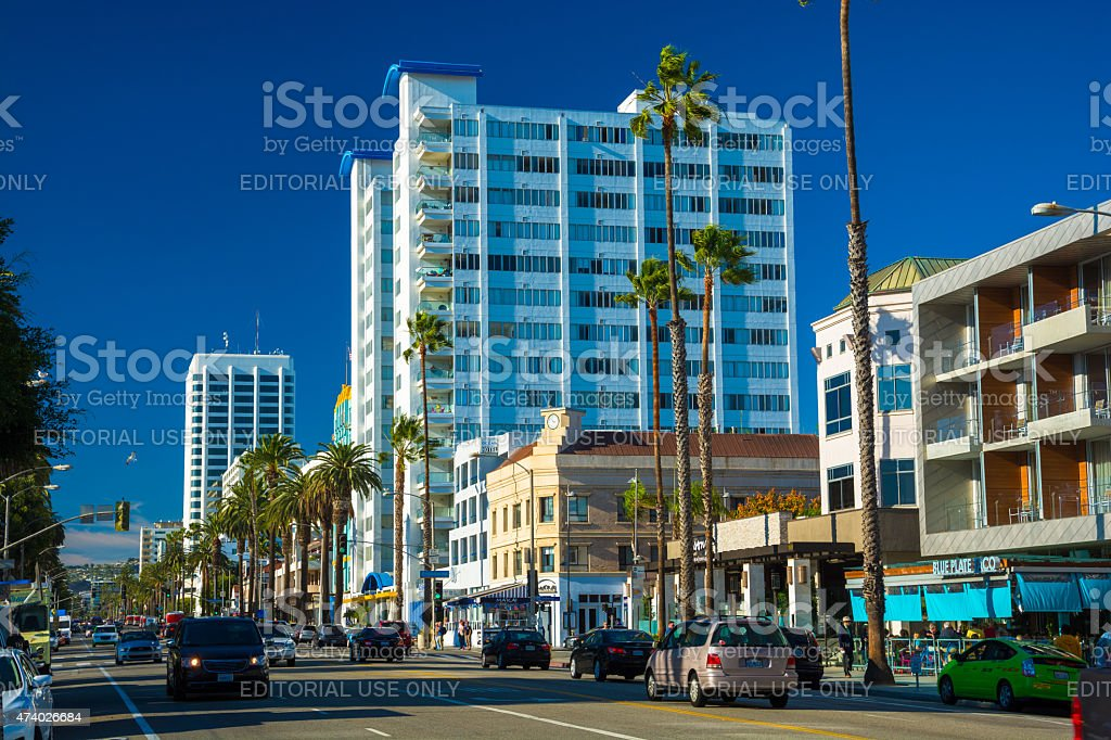 Ocean Avenue in Santa Monica stock photo