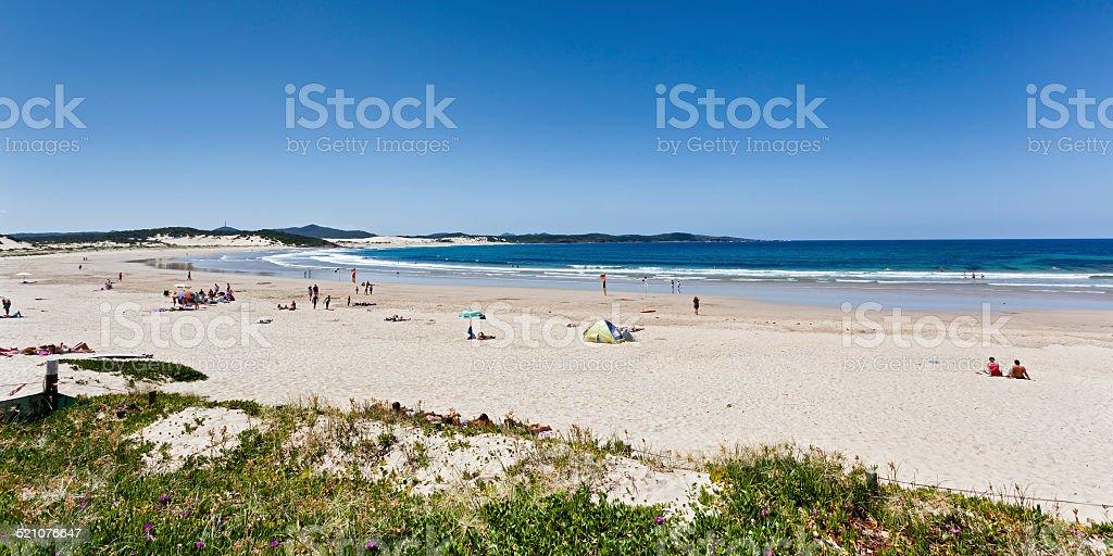 Ocean Beach Day Crown Pan stock photo