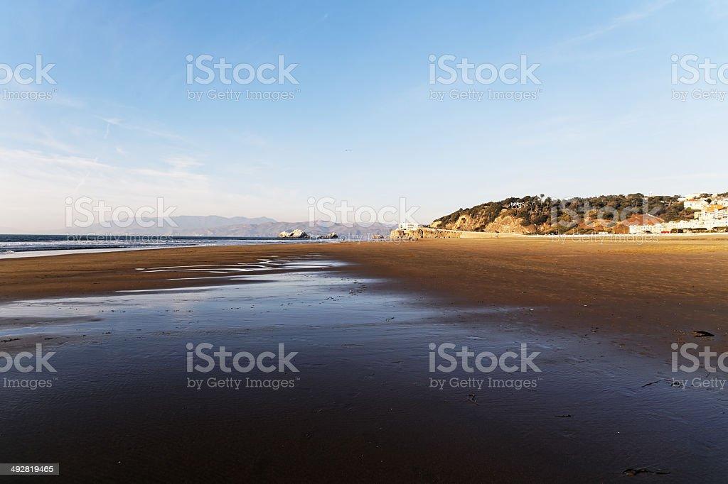 Ocean beach in San Francisco royalty-free stock photo