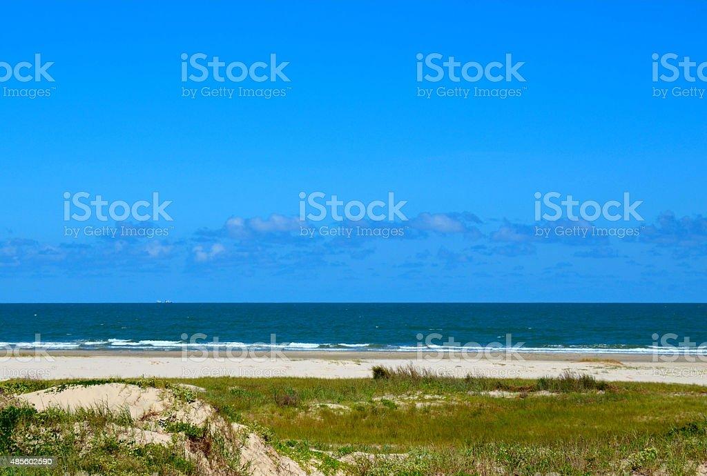 Ocean Beach Scene stock photo