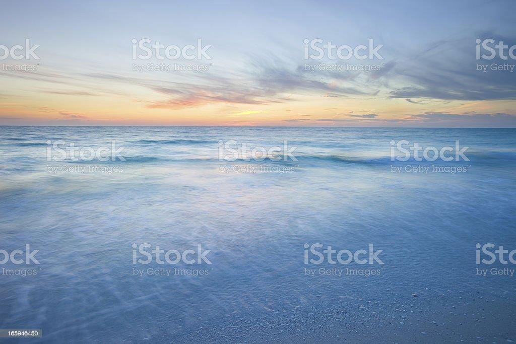 Ocean Beach Sunset royalty-free stock photo