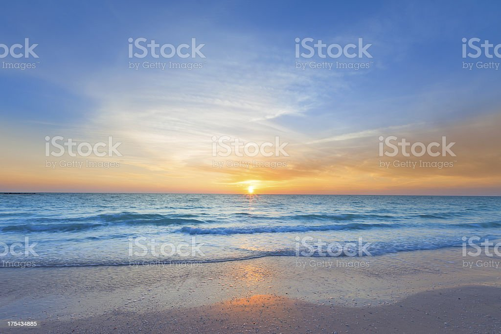 Ocean Beach Sunset stock photo