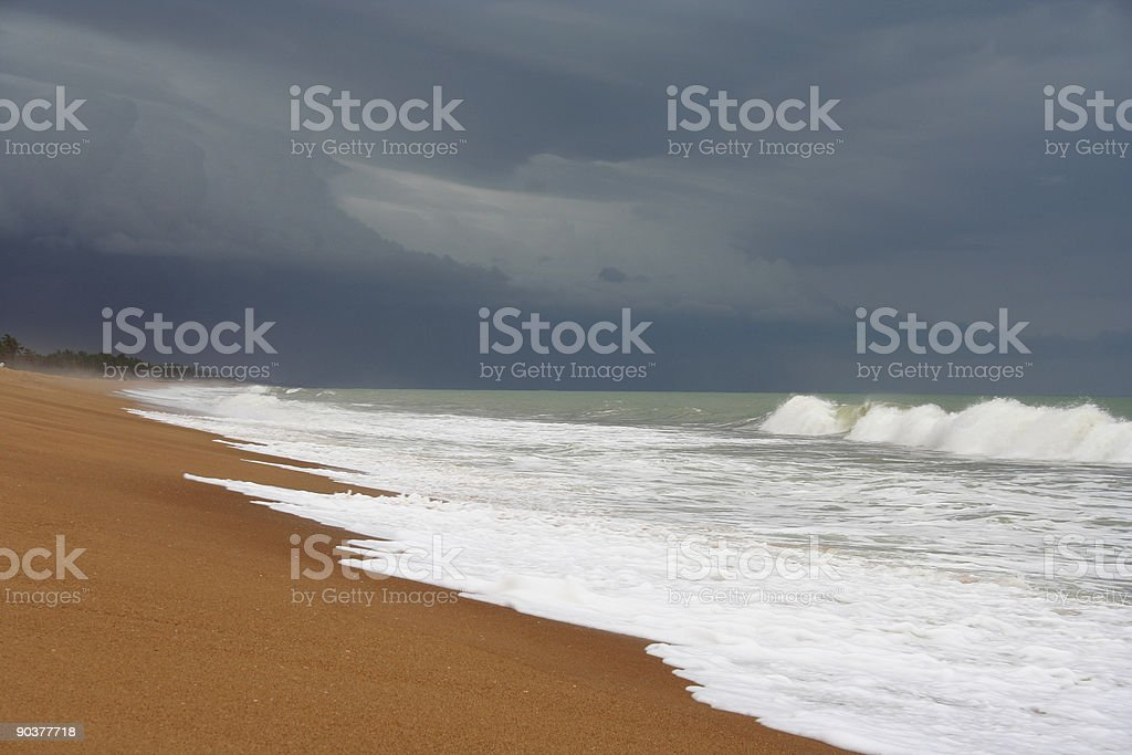 ocean before tropical storm royalty-free stock photo