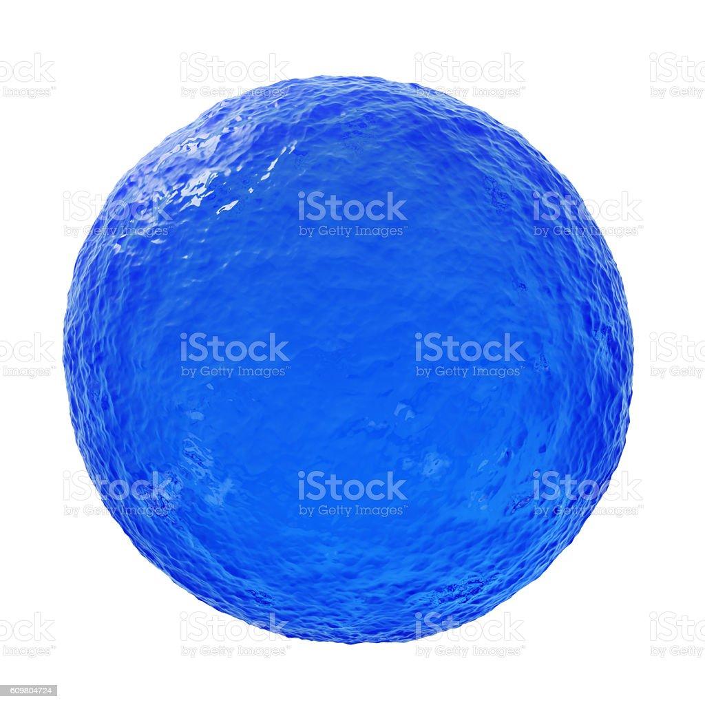 Ocean blue sphere - 3D illustration stock photo