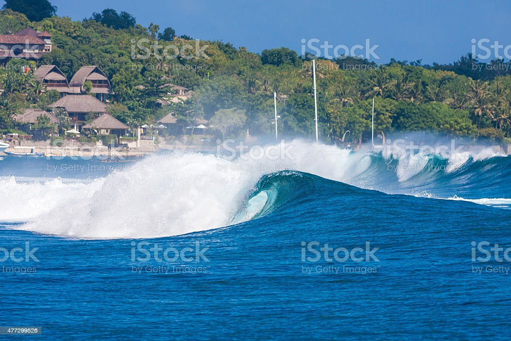 Ocean Blue Wave stock photo
