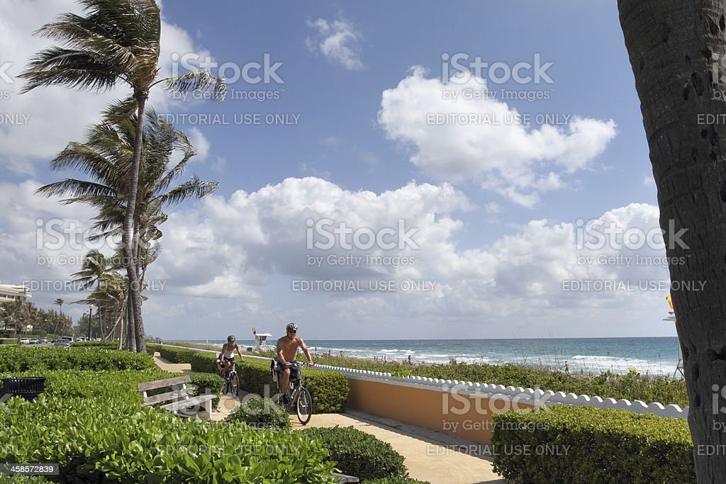 Ocean Boulevard in Palm Beach Florida stock photo