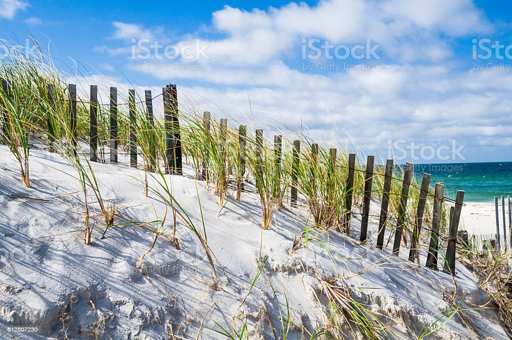 Ocean Breeze on Dennis Beach stock photo