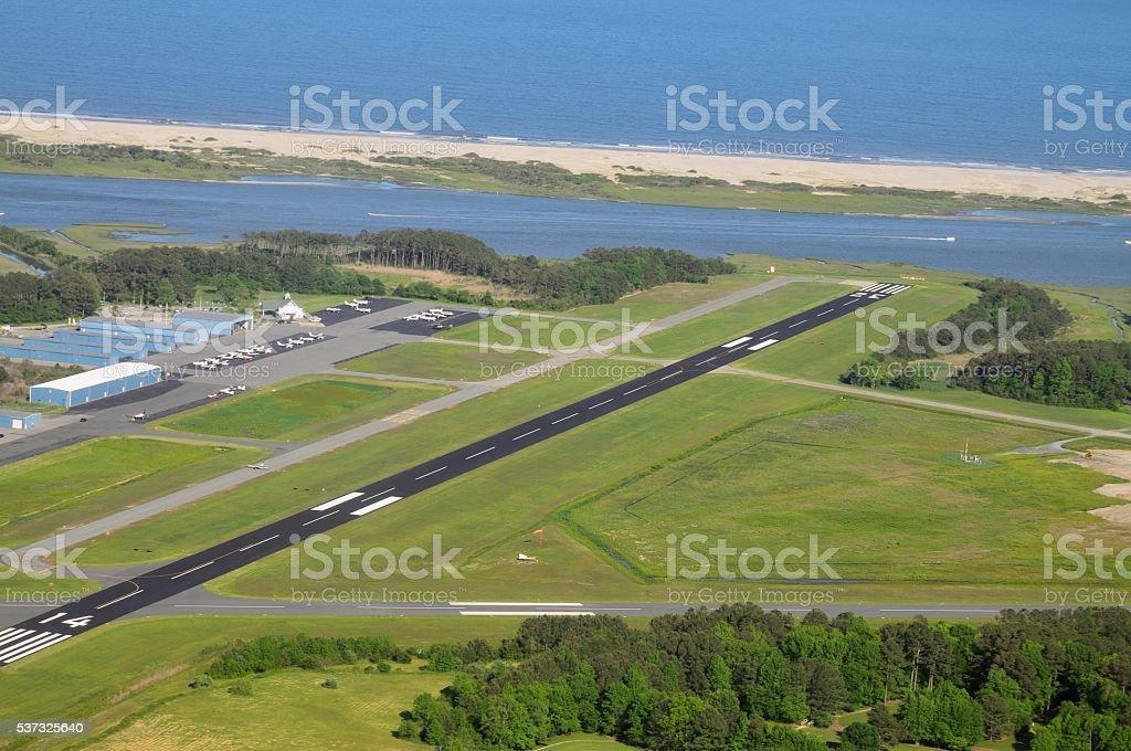 Ocean City Airport Runway stock photo