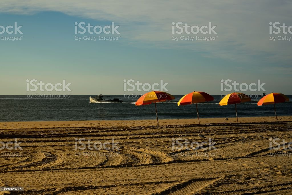 Ocean City Beach Scenic stock photo