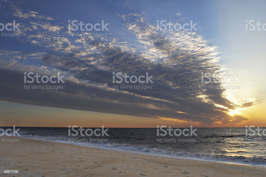 Ocean City Beach sunrise over the Atlantic royalty-free stock photo