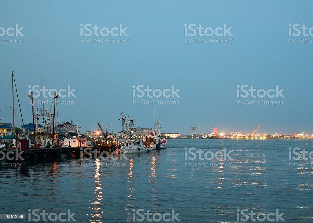 Ocean City Harbor And  Amusement Park stock photo