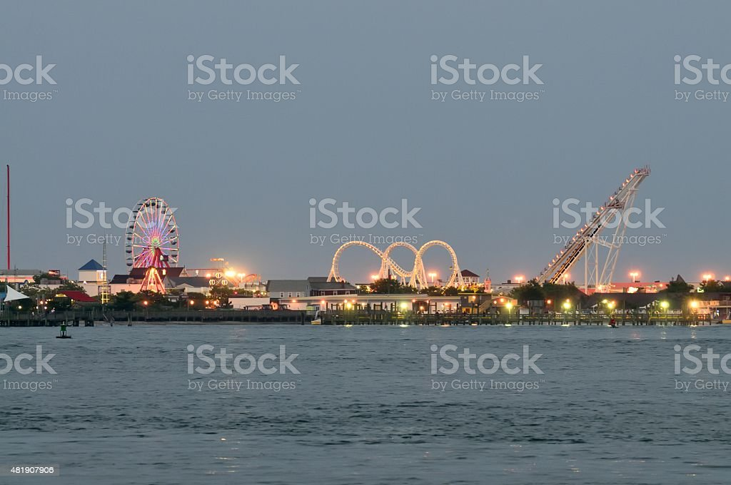 Ocean City Inlet Amusement Park stock photo