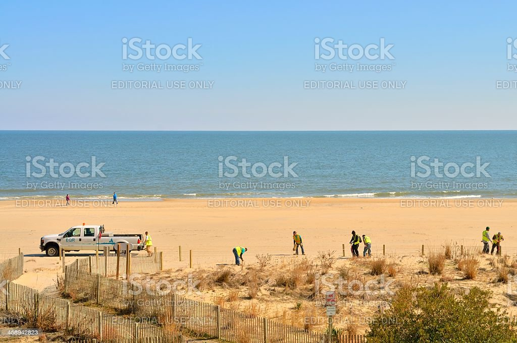 Ocean City Maryland Beach Restoration stock photo