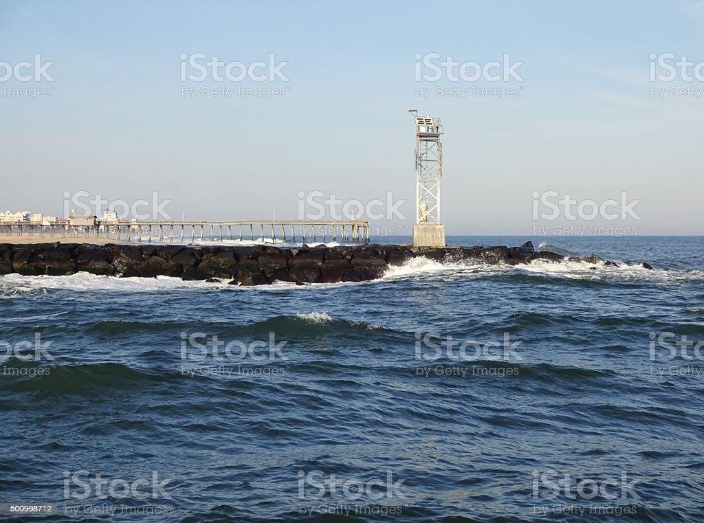 Ocean City Maryland North Jetty stock photo