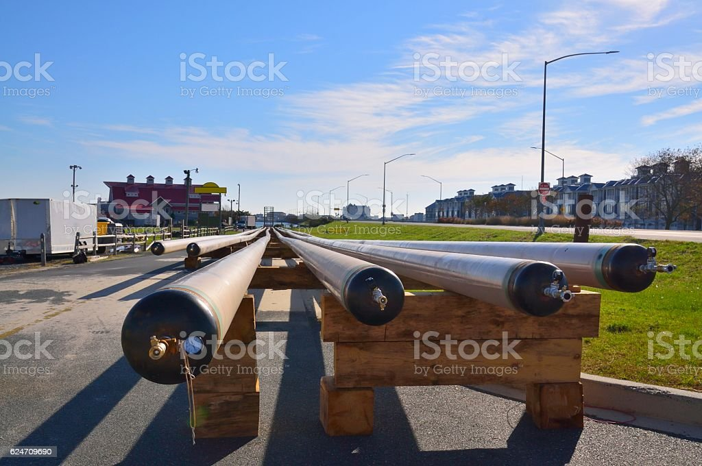Ocean City Natural Gas Installation stock photo