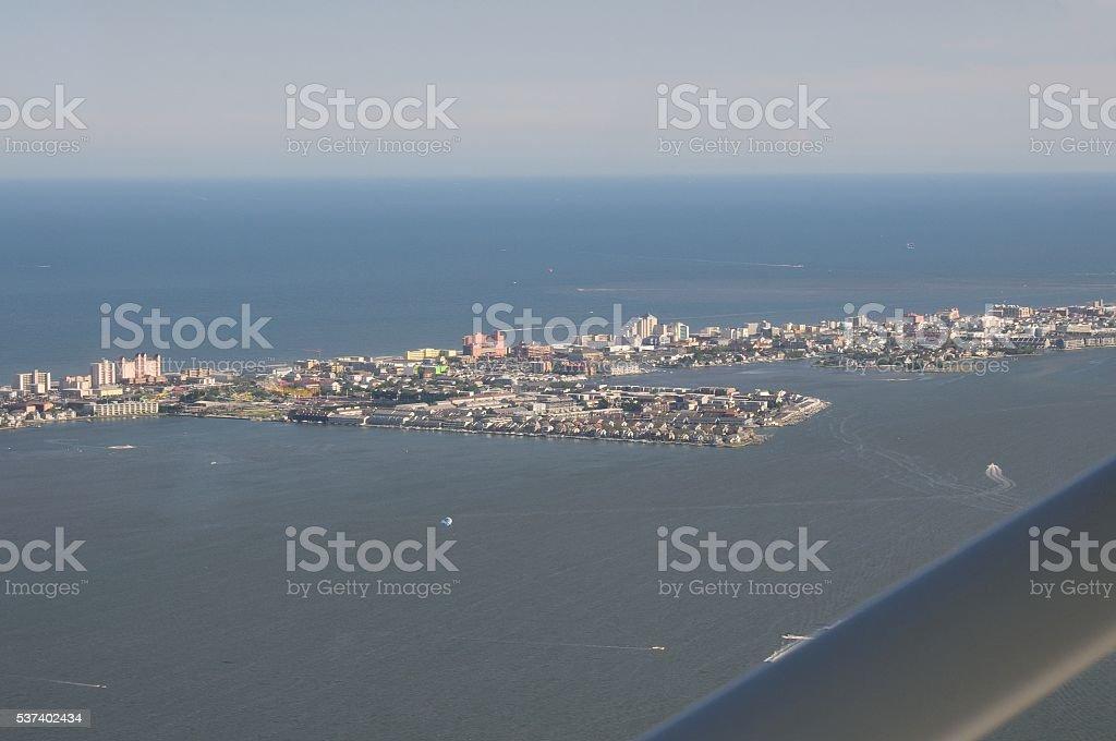 Ocean City Skyline from the Air stock photo